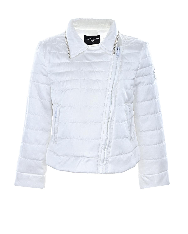 Куртка с декором из страз Monnalisa детская фото