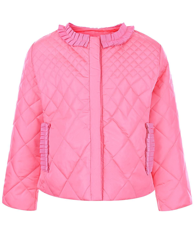 Легкая куртка с оборками Monnalisa детская фото