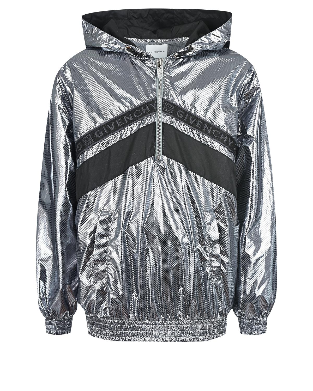 Купить Серебристая ветровка-анорак Givenchy детская, Нет цвета, 100%полиэстер, 100%полиамид