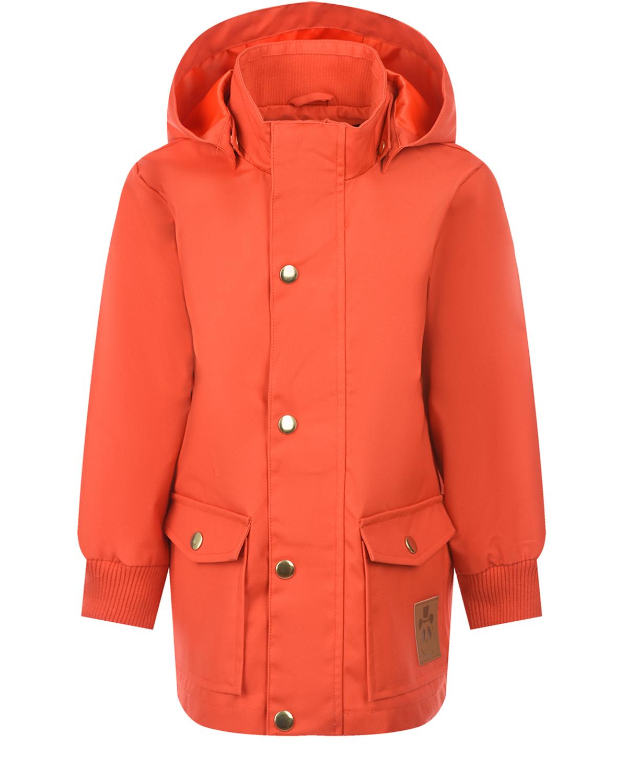 Красная куртка с накладными карманами Mini Rodini детская фото