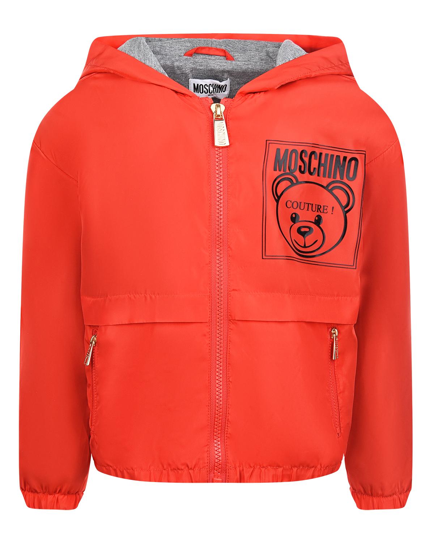 Купить Красная ветровка с логотипом Moschino детская