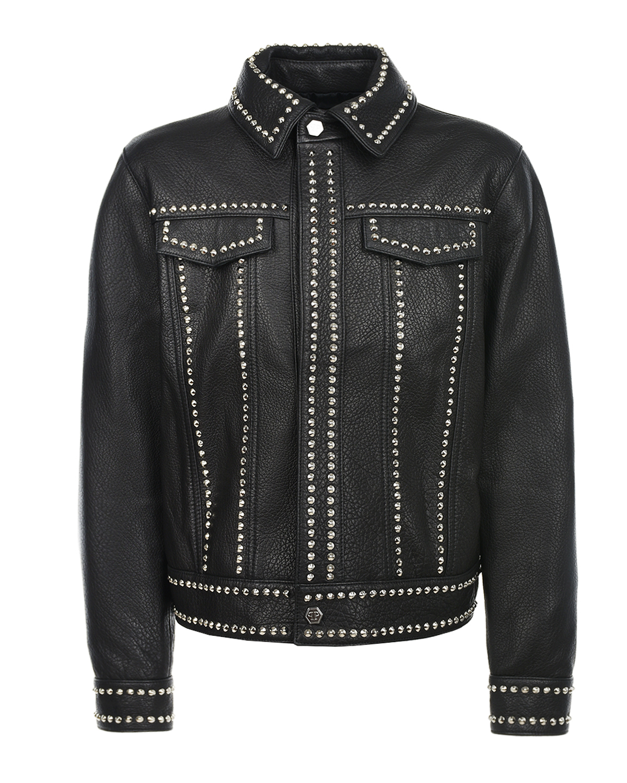 кожаные куртка philipp plein для девочки
