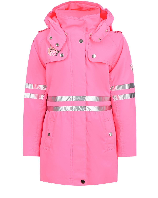 Купить Ярко-розовый плащ с серебристыми вставками Poivre Blanc детское, Розовый, 100%полиэстер