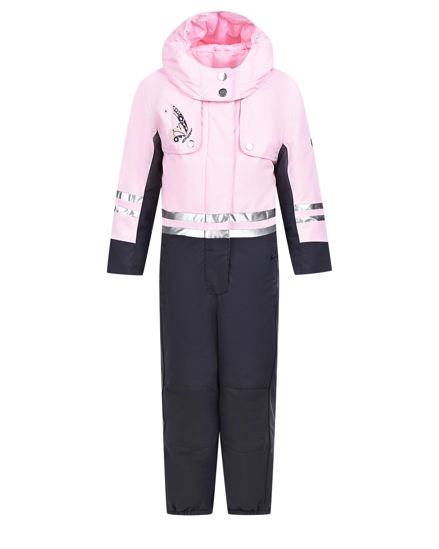 Купить Серо-розовый комбинезон с вышивкой Poivre Blanc детское, Розовый, 100% полиэстер