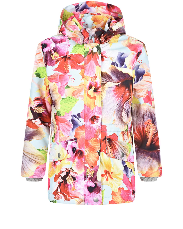 Купить Мембранная куртка Carole Hibiscus Dream Molo детская, Мультиколор, 100% полиэстер, 100% хлопок