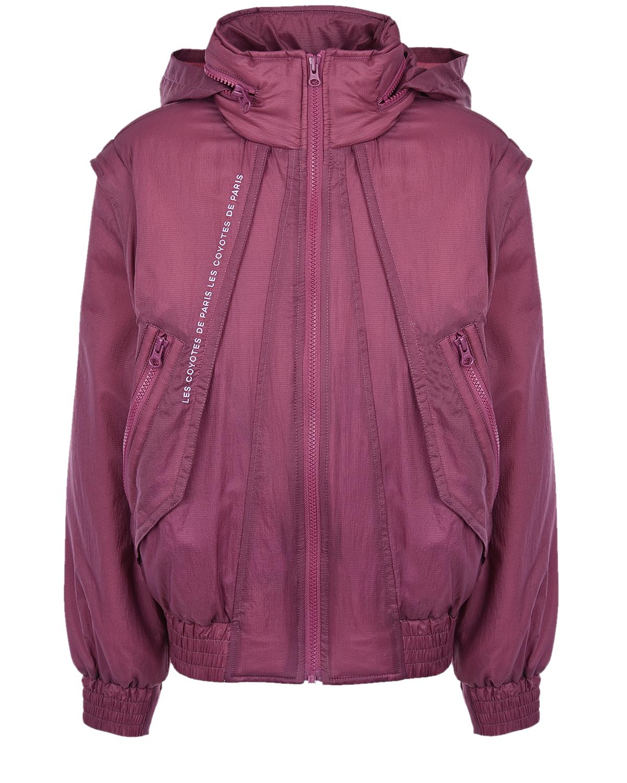 Купить Куртка-трансформер сливового цвета Les Coyotes de Paris детская, Нет цвета, 100%нейлон, 100%полиэстер