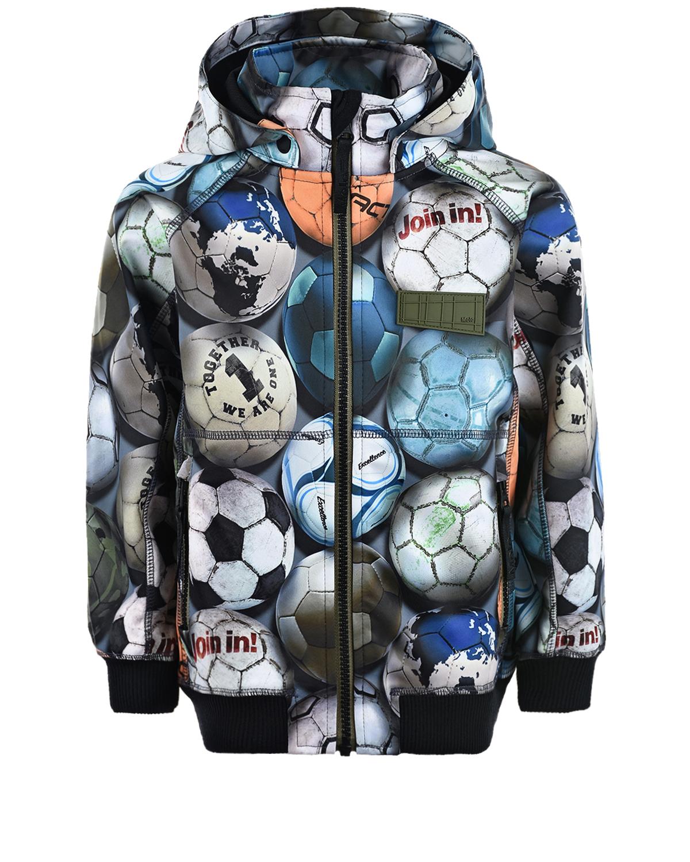 Купить Непромокаемая куртка Cloudy Football Camo Molo детская, Мультиколор, 100%полиэстер