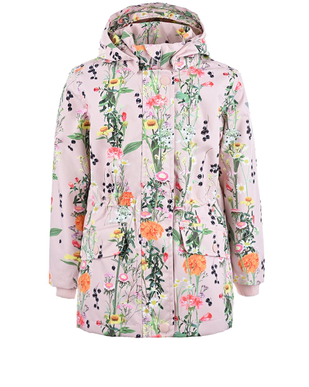 Купить Мембранная куртка Carole Vertical Flowers Molo детская, Розовый, 100%полиэстер, 100%хлопок