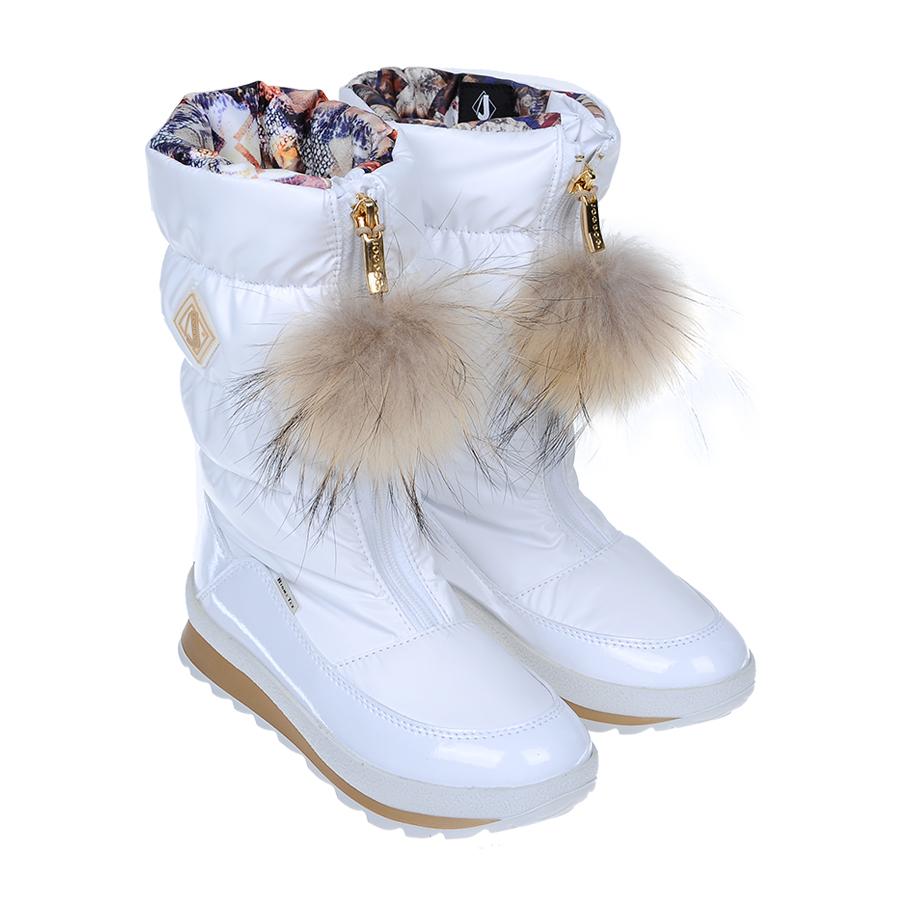 Мембранные сапоги Jog Dog для девочекБотинки, полусапоги зимние<br><br>