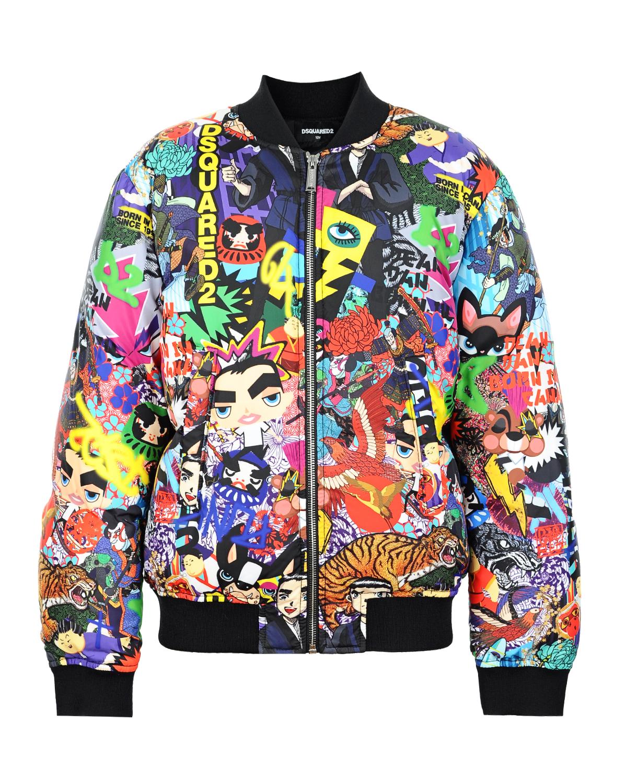 Куртка-бомбер Dsquared2Куртки демисезонные<br><br>