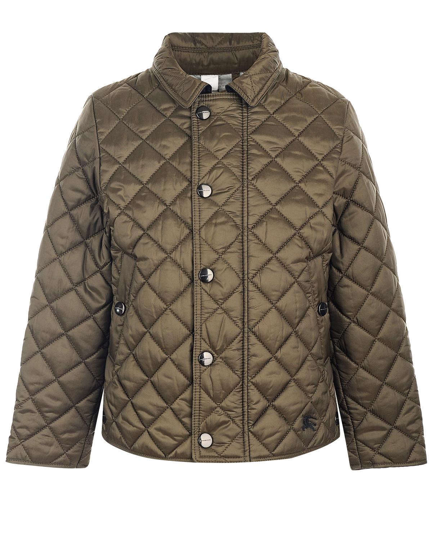 Купить Куртка Burberry детская, Хаки, 100%полиэстер