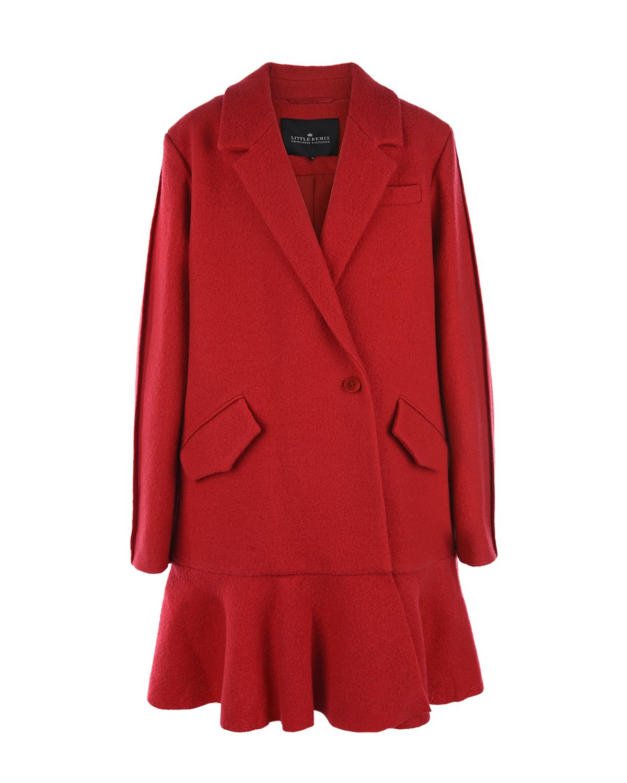 Пальто из шерсти с лацканами Little Remix