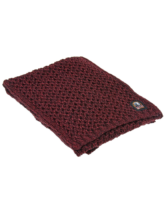 Вязаный бордовый шарф Parajumpers фото