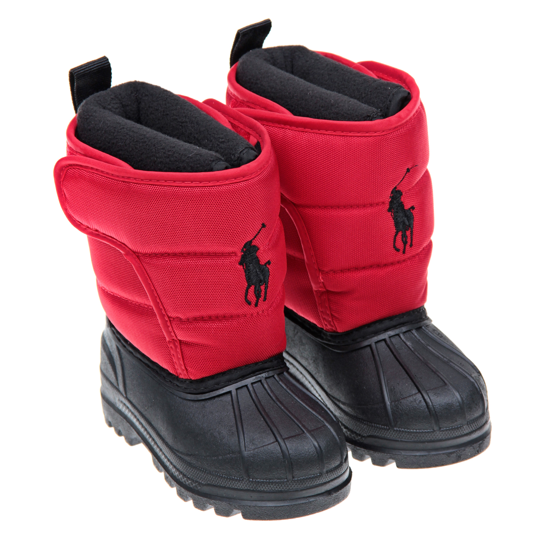 Купить Сапоги резиновые Polo Ralph Lauren детские, Красный, верх:текстиль, подкладка:текстиль, подошва:полимерные материалы