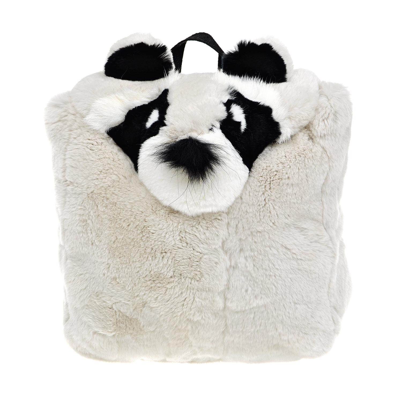 Меховой рюкзак с отделкой Yves Salomon детский фото