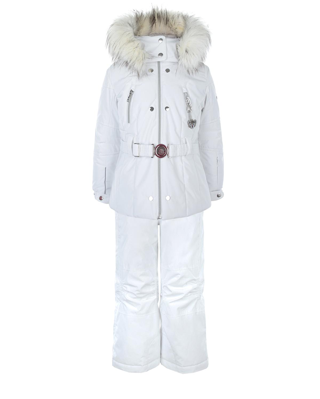 Комплект Poivre Blanc с меховой отделкой и вышивкой