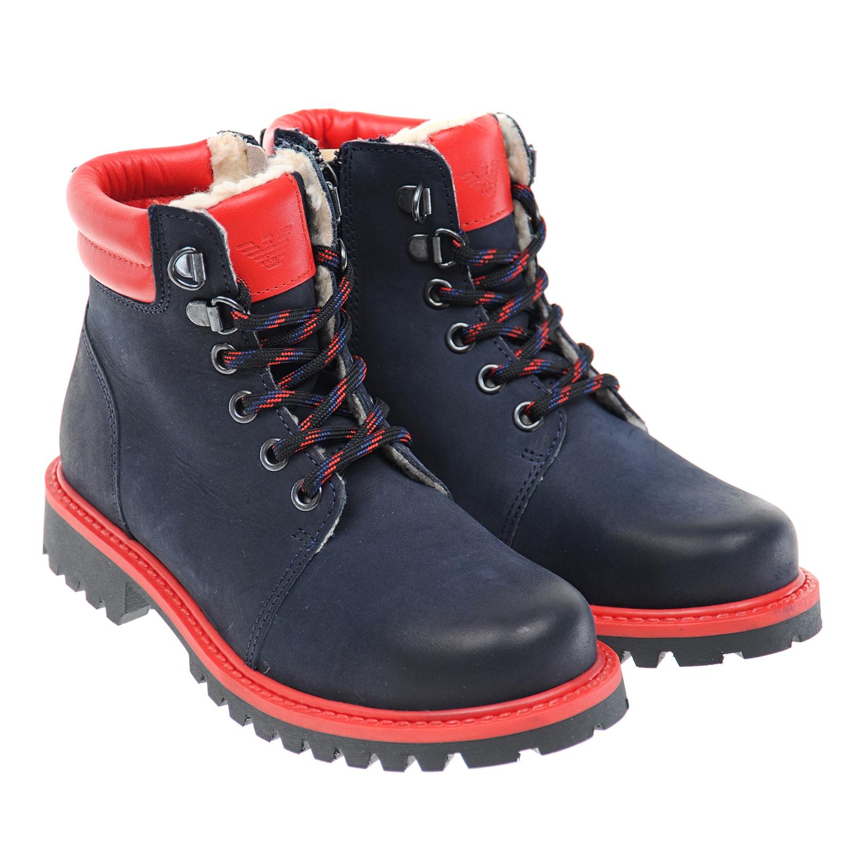 Высокие ботинки на шнуровке Emporio Armani
