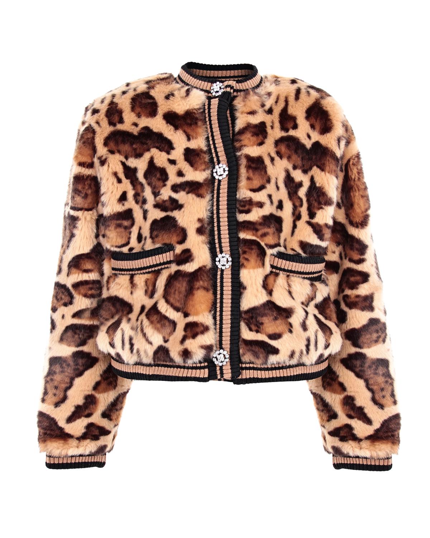Куртка-бомбер с леопардовым принтом Dolce&Gabbana