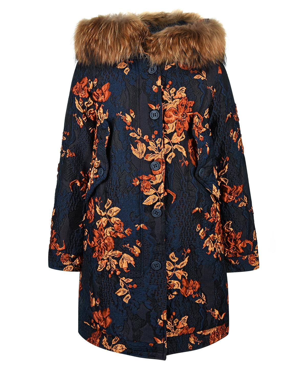 Купить со скидкой Пальто-пуховик с жаккардовым узором
