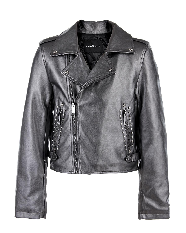 Купить со скидкой Куртка с застежкой на косую молнию и принтом
