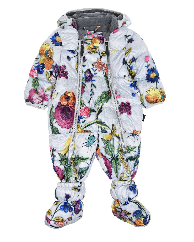 Купить Комбинезон Flower Embroidery с пинетками, Molo