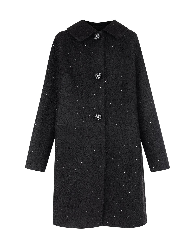 Буклированное пальто с декоративными кнопками Monnalisa