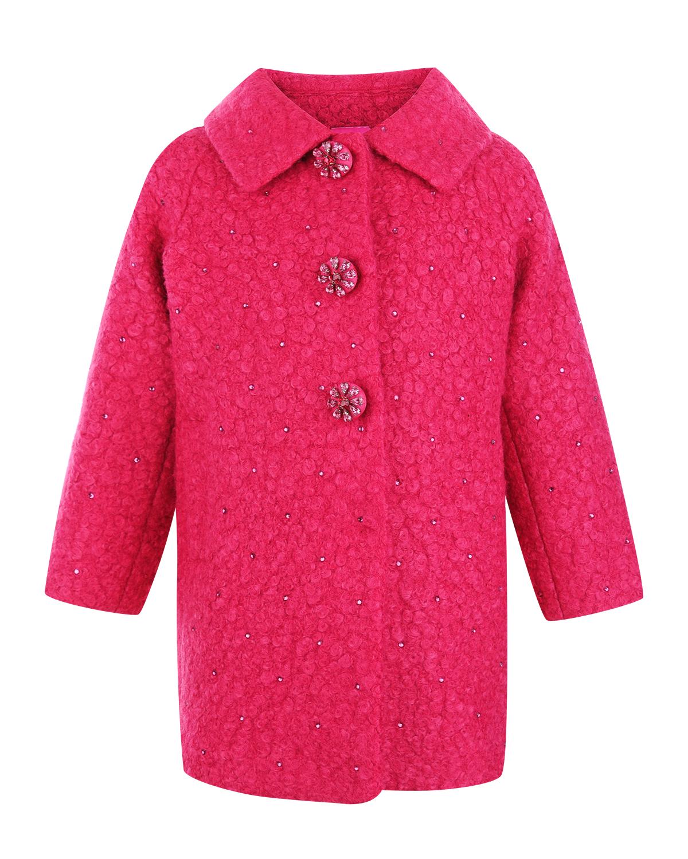 Буклированное пальто c декоративными кнопками Monnalisa