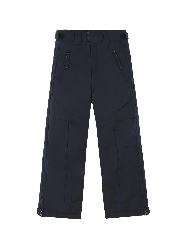 Утепленные брюкиБрюки и Полукомбинезоны<br>Утепленные темно-синие брюки Poivre Blanc. Базовая модель с усилением на коленях, двумя боковыми карманами с застежкой на молнию и регулируемым поясом с липучками.
