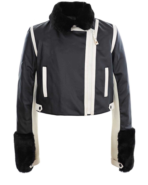 Купить Куртка из эко-кожи с меховой отделкой Twin Set
