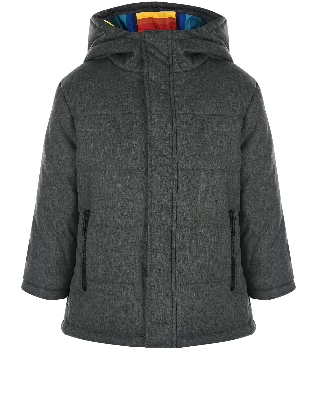 Серая куртка с капюшоном Paul Smith детская фото