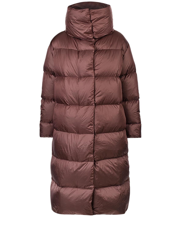 Купить Стеганое пальто с высоким воротником ADD, Песочный, 100%полиамид, 95%пух+ 5%перо