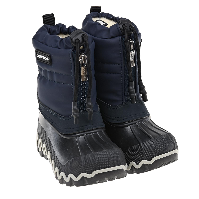 Купить Синие мембранные сапоги с подошвой-калошей Jog Dog, Синий, верх:100%полимерные материалы, подкладка:100%шерсть, подошва:100%полим.материалы (термопл.полиуретан)