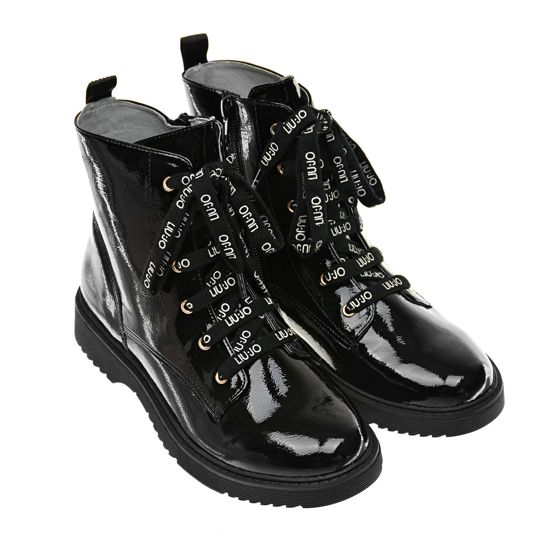 Черные лакированные ботинки Liu Jo фото
