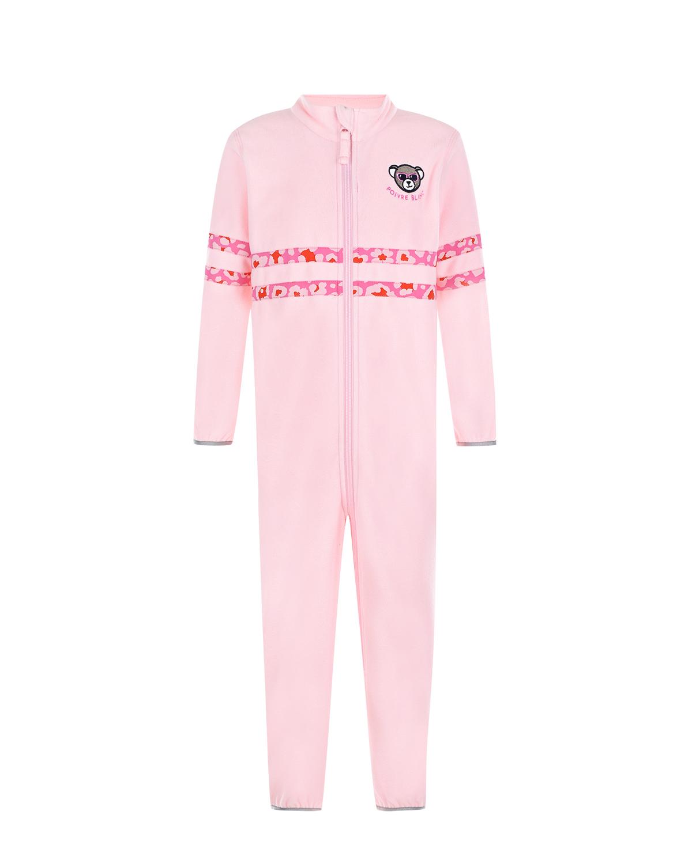 Купить Розовый комбинезон из флиса Poivre Blanc детский, 100%полиэстер, 88%полиамид+12%эластан