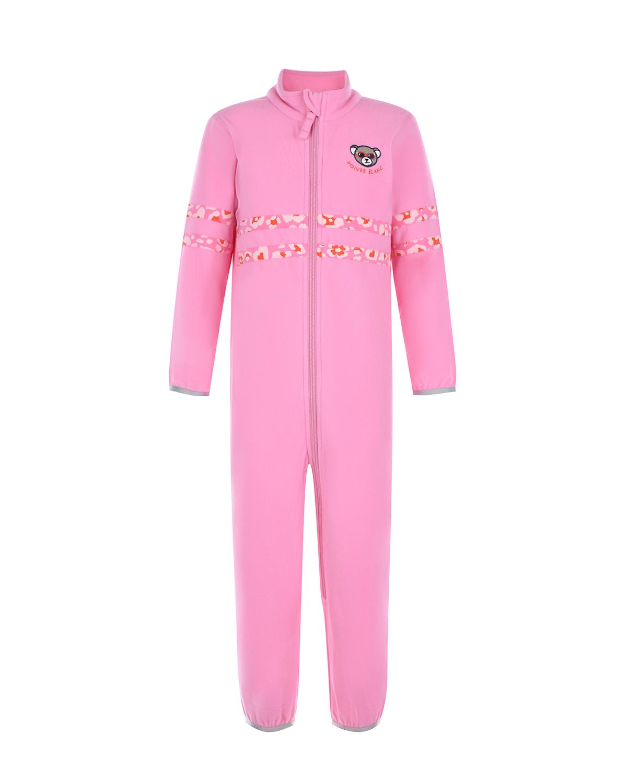 Купить Флисовый комбинезон цвета фуксии Poivre Blanc детский, Розовый, 100%полиэстер, 88%полиамид+12%эластан