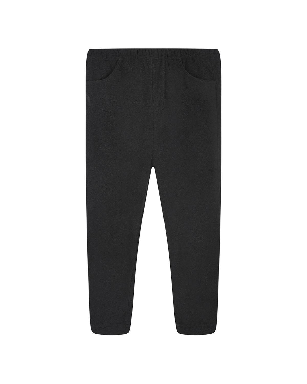 Черные флисовые брюки Poivre Blanc детские фото