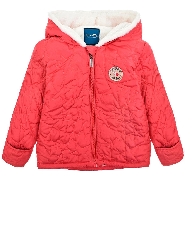 Куртка утепленная с капюшоном Sanetta детская фото