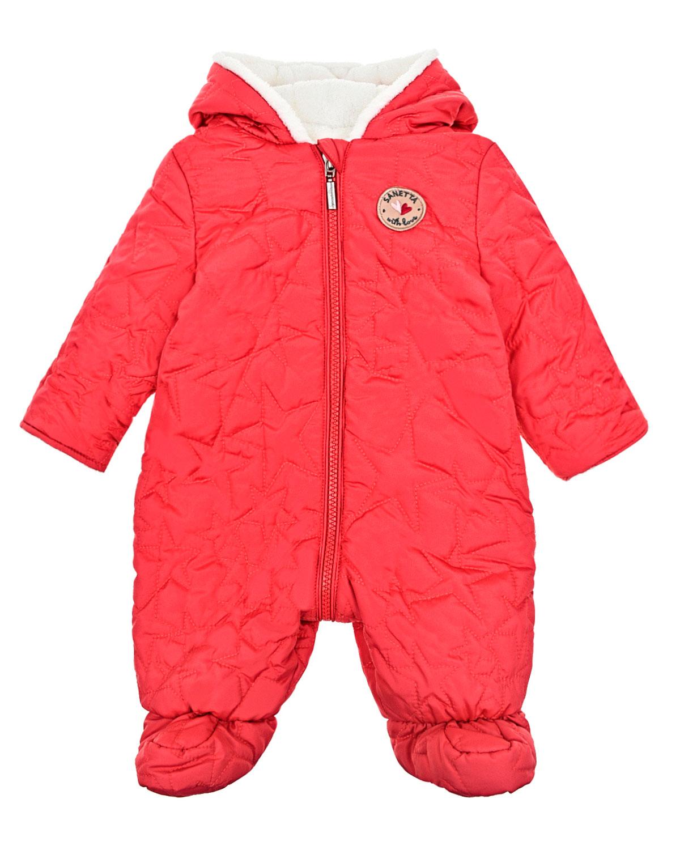 Купить Комбинезон утепленный со зведочками Sanetta детский, Красный, 100%полиэстер
