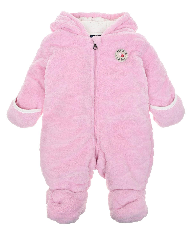 Купить Розовый комбинезон из флиса Sanetta детский, 100%полиэстер, 100%хлопок