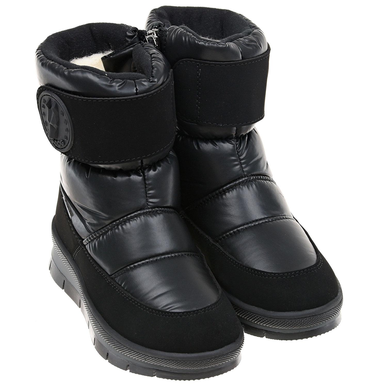 Купить Мембранные сапоги на липучке Jog Dog, Черный, верх:100%полимерные материалы, подкладка:100%шерсть, подошва:100%полим.материалы (термопл.полиуретан)
