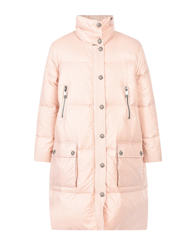 Купить со скидкой Розовое стеганое пальто John Richmond детское