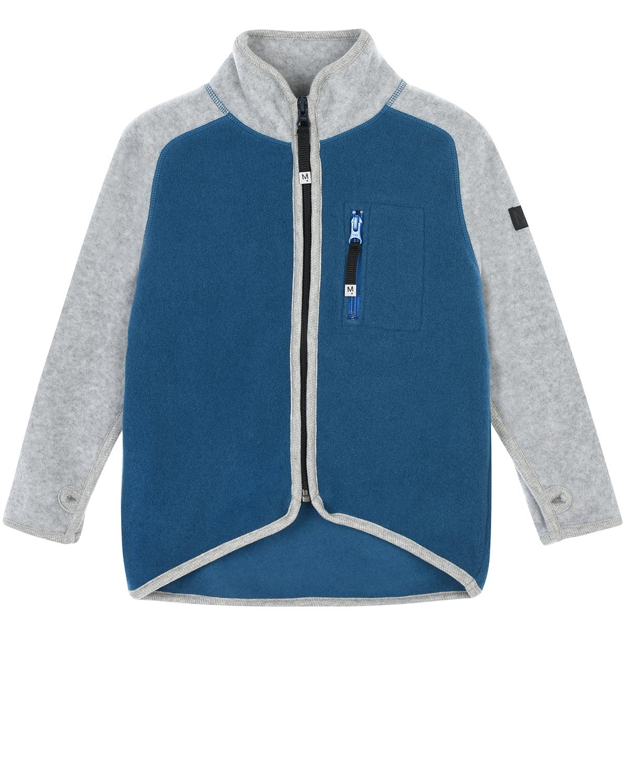 Купить Двухцветная спортивная куртка из флиса Molo детская, Мультиколор, 100%полиэстер