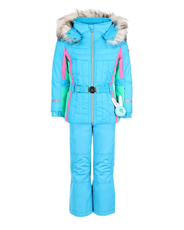 Комплект, куртка и полукомбиезон, голубой с вышивкой Poivre Blanc детский