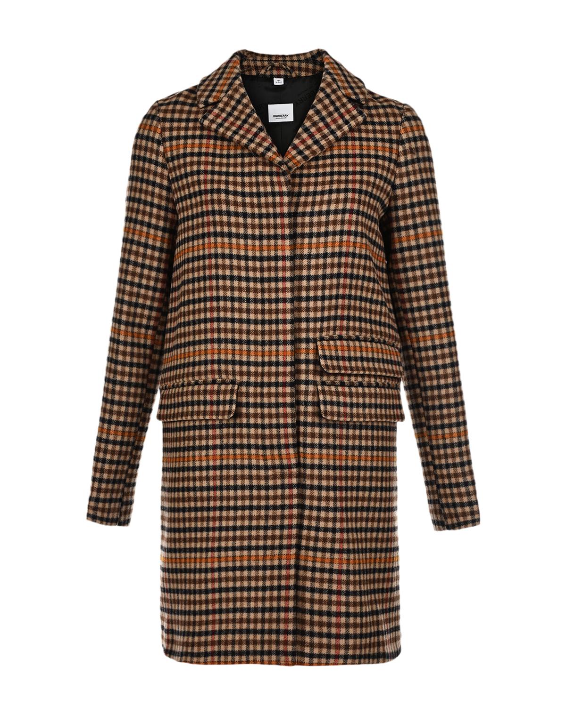 Купить Пальто в клетку Burberry детское, Мультиколор, 100%вирджинская шерсть, 75%шерсть+20%полиамид+5%кашемир, 75%полиэстер+20%полиамид+5%кашемир
