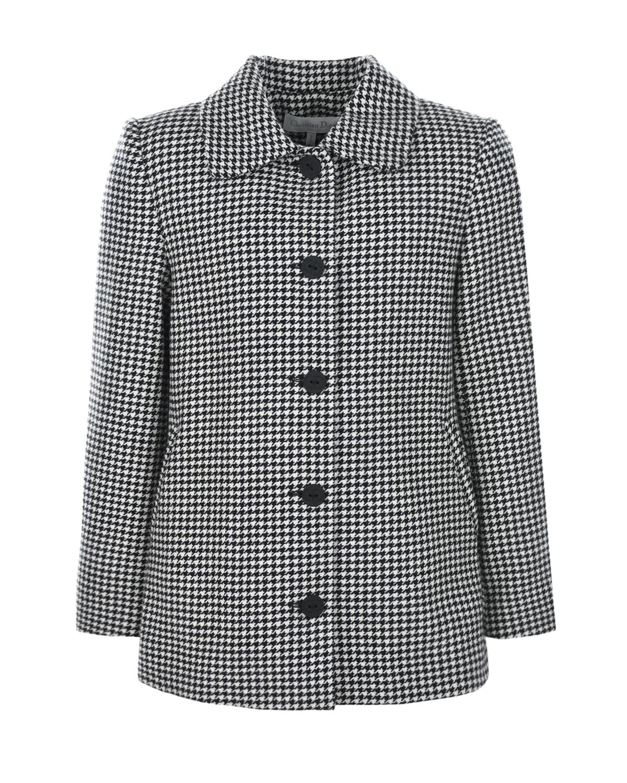 Купить Шерстяное пальто с принтом гусиная лапка Dior детское, Мультиколор, 90% шерсть+10% кашемир