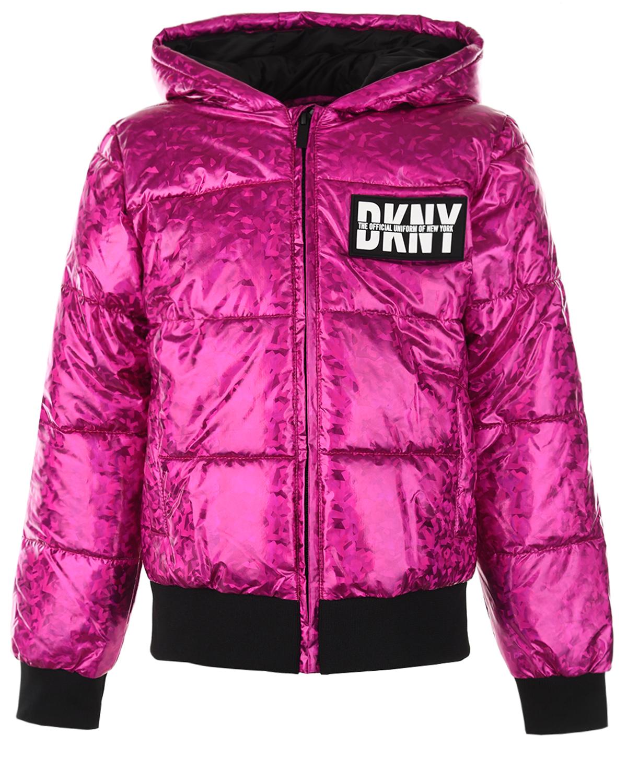 Купить Куртка цвета фуксии DKNY детская, Нет цвета, 100%полиэстер, 98%полиэстер+2%эластан