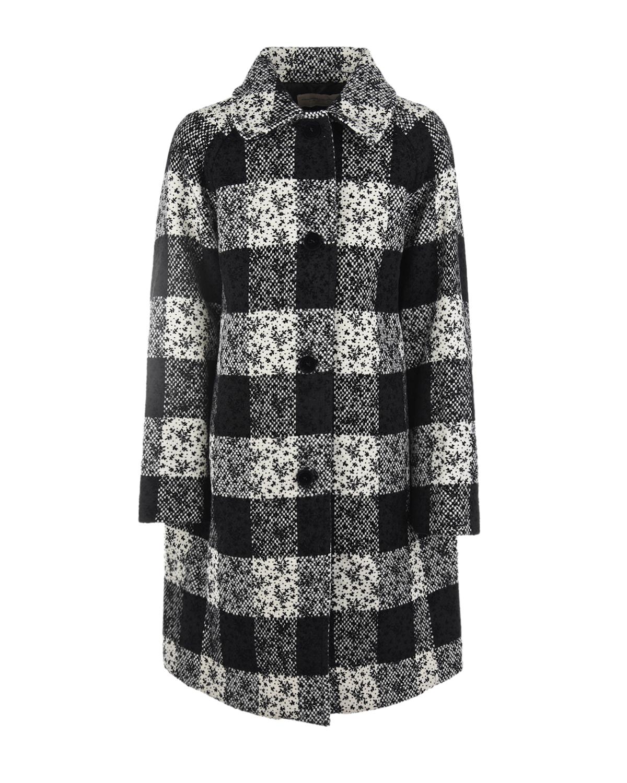 Купить Пальто в крупную клетку Ermanno Scervino детское, Мультиколор, 50%акрил+25%полиэстер+20%шерсть+5%др.волокна, 60%ацетат+40%всикоза, 100%полиэстер