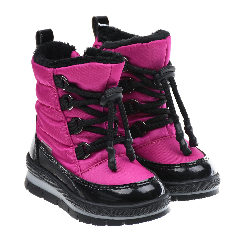 Купить Мембранные сапоги цвета фуксии Jog Dog детские, Розовый, верх:85%текстиль(46%полиамид, 54%полиэстр)+15%искусств.кожа, подкладка:100%шерсть, подошва:100%полим.материал