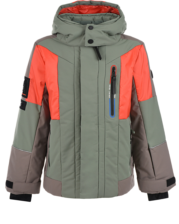 Горнолыжная куртка с оранжевыми вставками Poivre Blanc детская