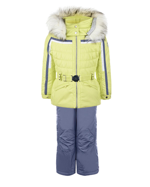 Купить Зимний комплект из салатовой куртки и серого полукомбинезона Poivre Blanc детский, Салатовый, 100%полиэстер, 100%модакрил